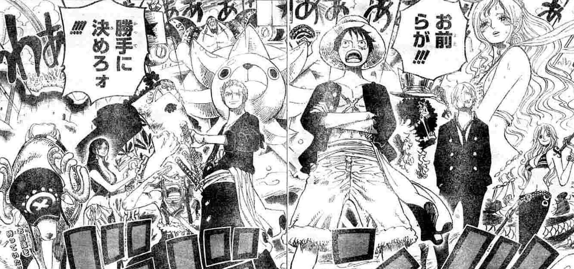 Une publicité annonce que le manga One Piece tire à sa fin