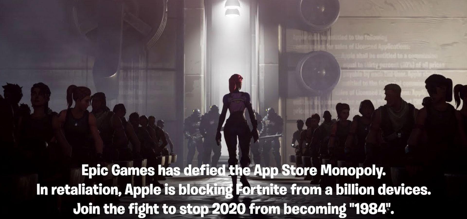 Suppression de Fortnite de Apple Store et Play Store