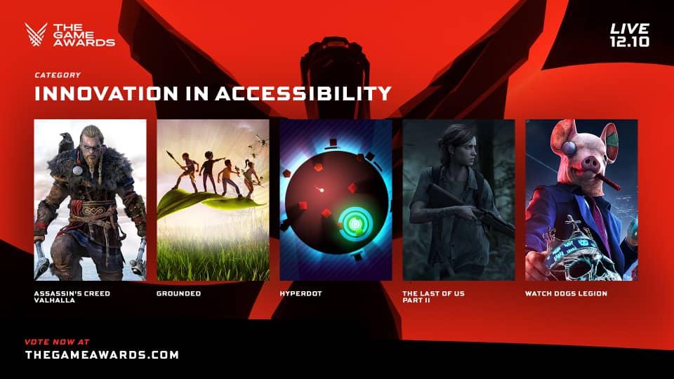 Les jeux nominés dans la catégorie Innovation in Accessibility